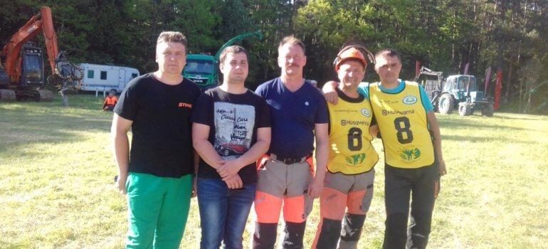 Белорусские вальщики леса стали лучшими на открытом чемпионате Литвы